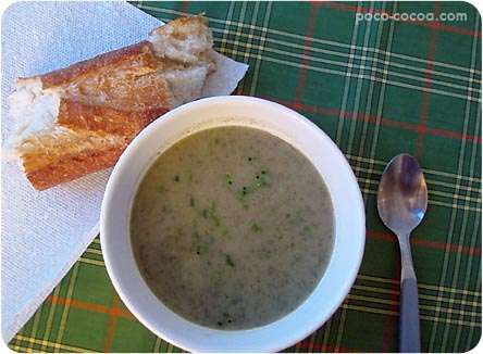 ... and i used up our leeks sorrel and some red potatoes for this soup
